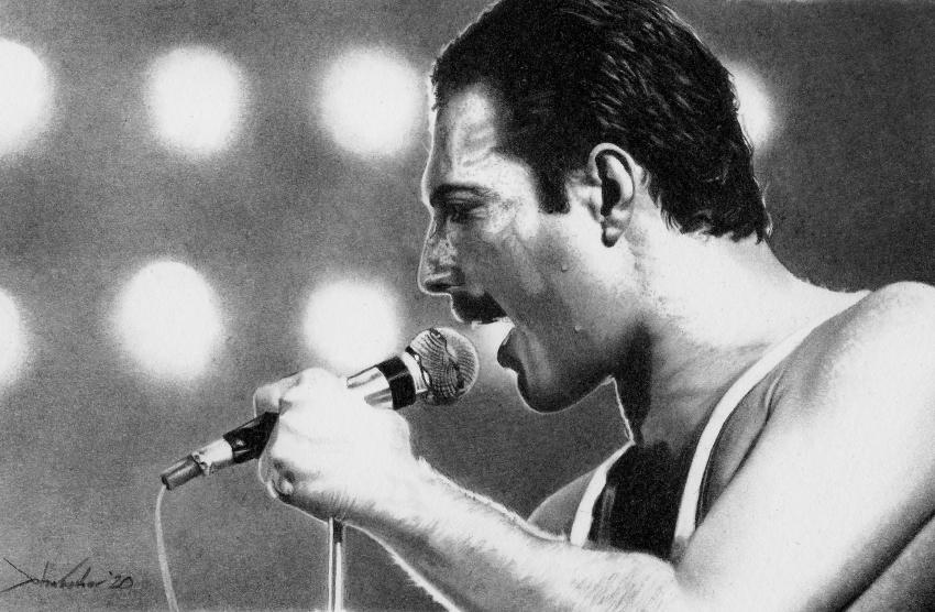 Freddie Mercury by JohnFisherArt